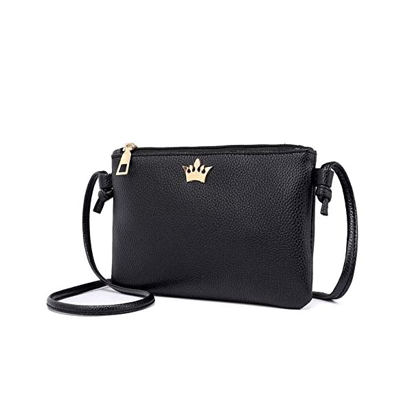 d2518d49db Innerternet Borse A Spalla Donna,Donna In Pelle Crossbody Bag   Borse A  Tracolla Colore Puro   Messenger Bag   Sacchetto Della Moneta   Borsa Mini  (Verde ...
