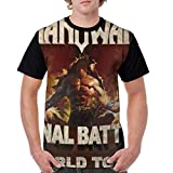 Jasonlooper Manowar Kings of Metal Herren 3D-Druck T Shirt Black 3XL