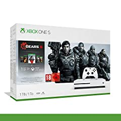 Idea Regalo - Xbox One S - 1TB Bundle Gears of War 5 - Inclusi Gears of War 2, 3, 4 + 14 Days Live Gold + 1 m Gamepass - Bundle - Xbox One