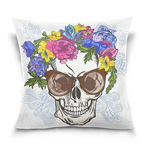 l mit Sonnenbrille Square Throw Pillow Case Polyester Kissenbezug 18 x 18 Zoll ()