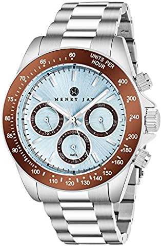 'Henry Jay Men's Stainless Steel Multi Function