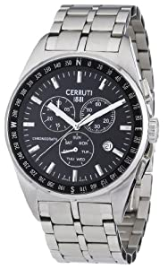 Reloj de caballero Cerruti 1881 Veliero CRA001A221G de cuarzo, correa de acero inoxidable color plata de Cerruti