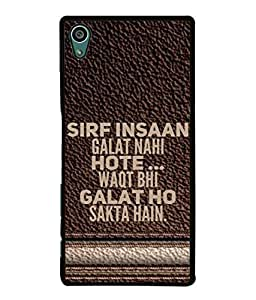 FUSON Designer Back Case Cover for Sony Xperia Z5 :: Sony Xperia Z5 Dual 23MP (Waqt Bhi Galat Ho Sakta Hai Theme Brown Background)