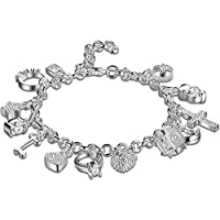 fablcrew encanto pulsera 13colgante cadena de plata con cristales para mujer niñas joyas regalo