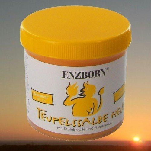 Pferdesalbe Enzborn Teufelssalbe HEISS 200 ml, ein intensiv wärmendes Pflegegel mit der natürlichen Kraft der Teufelskralle und der Brennnessel.   Teufelssalbe heiß