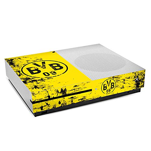 DeinDesign Skin Aufkleber Sticker Folie für Microsoft Xbox One S Borussia Dortmund BVB Fanartikel
