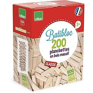 Vilac 2134 – Costruzioni, il piccolo costruttore: 200 pezzi in legno naturale [Lingua francese