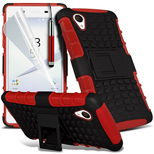 Case for <b>      Sony Xperia Z5 Premium / Sony Xperia Z5 Premium Dual    </b>     Case Universal Car Phone Holder Mount Cradle Dashboard & Windshield for iPhone y i -Tronixs Shock proof + Pen (Red)