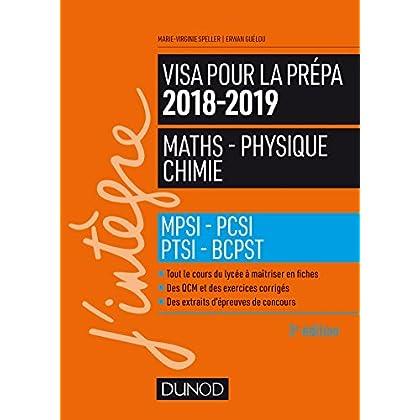 Visa pour la prépa 2018-2019 - Maths-Physique-Chimie - MPSI-PCSI-PTSI-BCPST
