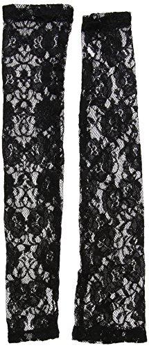 Smiffy's 24731 lange schwarze Spitzenhandschuhe, (Halloween Gothic Ideen)