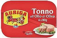AURIGA Tonno all'Olio di Oliva Multipack, 480 Gr