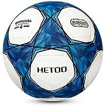 Hetoo Calcio Impermeabile,Miglior Pallone Da Allenamento E Partita Per Adulti E Bambini -Taglia 5, 4, 3. (Taglia 4)