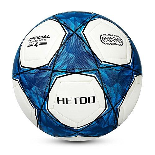 El Balón De Fútbol Impermeable Hetoo, la Mejor Elección Para Adultos Y Niños En los entrenamientos Y Campeonatos –Las Medidas Para Elegir 5, 4 y 3. (Tamaño 4)