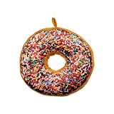 donuts Mignon Coussin Décoratif en Peluche sous Forme de pour Canapé, Voiture et Voyage (Mutli)