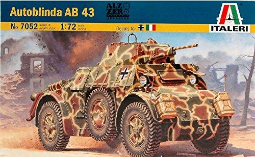 Autoblinda ab 43 kit 1:72 italeri kit mezzi militari modello modellino die cast