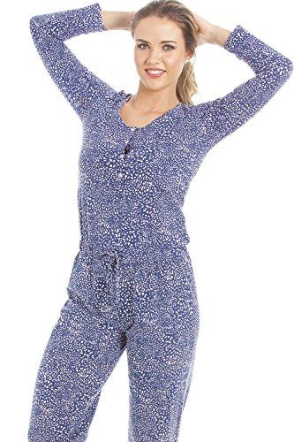 Combinaison pyjama avec imprimé animal - bleu marine et rose Bleu
