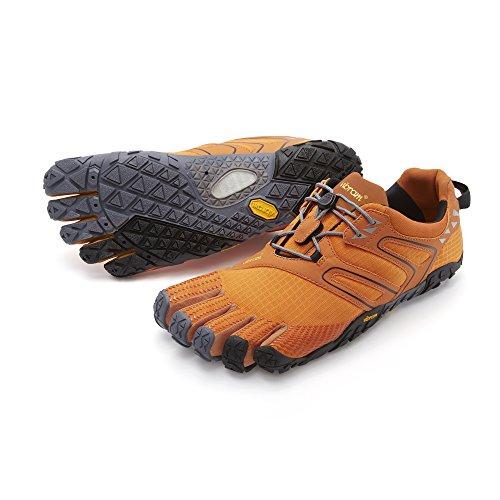 Vibram FiveFingers Herren V-Trail Traillaufschuhe, Orange (Orange/Grey/Black), 42 EU
