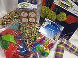 Partyset Dekoset: 6 Girlanden, 50 Luftballons, 4 x Luftschlangen, Konfetti, 4 Rotorspiralen