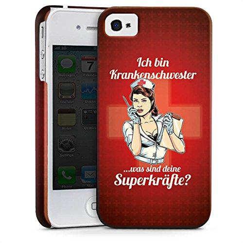 Apple iPhone X Silikon Hülle Case Schutzhülle Krankenschwester Spruch Nurse Premium Case glänzend