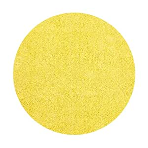 tapis shaggy rond uni jaune relax 160x160. Black Bedroom Furniture Sets. Home Design Ideas
