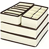 Tinksky 4 Piezas Plegable Caja Organizadores para Armarios Ropa Interior Sostenes Lazos Calcetines