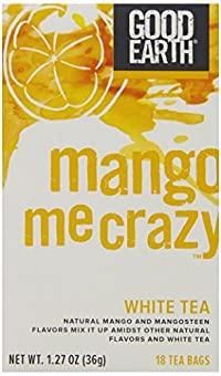 Good Earth Mango Me Crazy White Tea, 18 Count Tea Bags (Pack of 6)