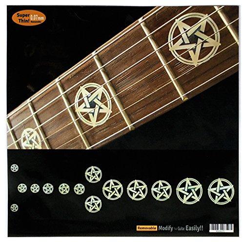 Griffbrett Marker Inlay Aufkleber Decals für Gitarre & Bass-Pentagramm/Kevin Bond