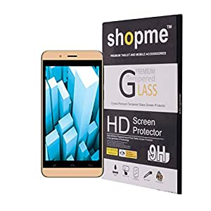 Shopme 2.5D_ 0.33mm_(4.5 Inch) Ultra Clear, Anti Scratch,Bubble free, Anti finger print Tempered Glass Screen Protector for Intex _Aqua Pro 4G