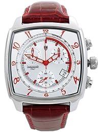 Lancaster 0262WRR - Reloj para caballero de cuero blanco