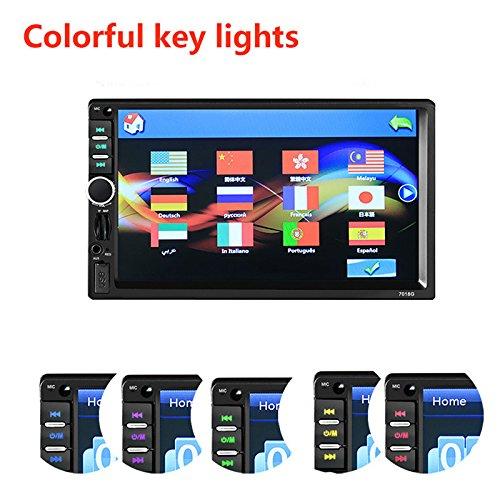 Sedeta navegacion GPS HD digital TFT TouchScreen coche MP5 Player Soporte BT/FM/TF/USB MP5 Rearvien Camer