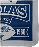 Officially Licensed NFL Marquis Fleece Throw Blanket - Dallas Cowboys