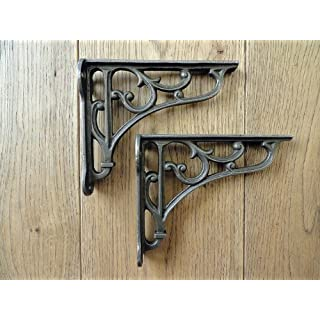 knobs and knockers A PAIR OF SMALL CLASSIC VICTORIAN SCROLL SHELF BRACKETS 4 INCH BRACKET CAST IRON