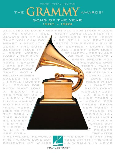 The Grammy Awards: Song Of The Year 1980-1989: Songbook für Klavier, Gesang, Gitarre