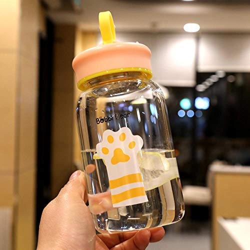 5653837b9a5b chenhx Cute Cat's Claw Glass Tea Leakage Creative Water Bottle Glass Heat  Resistant Plastic Cup Portable Large Capacity Handy Water Tea Outdoor ...