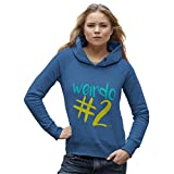 TWISTED ENVY Damen Kapuzenpullover Weirdo #2 Print X-Large Blau