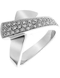 Orphelia Damen-Ring 18 Karat (750) Weigold 32 Diamanten 0.32 Carat Gr. 57 (18.1) RD-3288