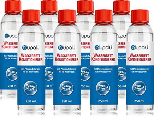 blupalu | 8 x 250 ml Wasserbett Conditionierer Set | Conditioner | Konditionierer | Wasserbett-Zubehör | für alle Wasserbetten (Suma Nova)