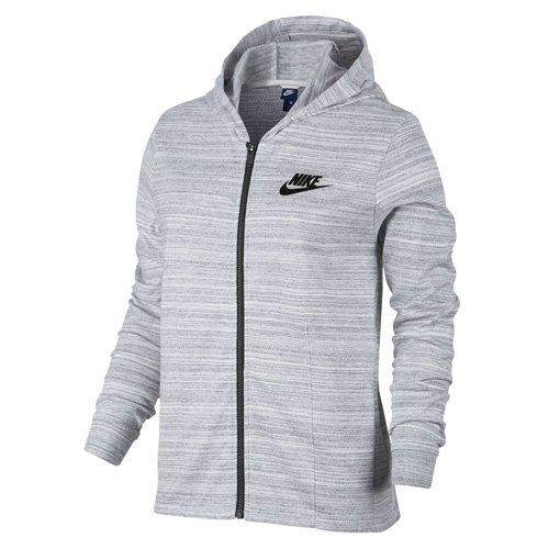 Nike Damen W Nsw Advance 15 Jacket Knit Trainingsjacke mit Kapuze, Weiß/Schwarz_100, L (Jacket Nike-knit)