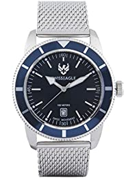 Swiss Eagle Analog Blue Dial Men Watch- SE-9114-11