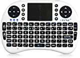 eSynic 2.4G Mini Wireless Keyboard Touchpad Mouse - White
