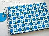 Ringbuch Gästebuch DIN A5 Retro Punkte blau