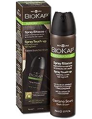 Bios Line BioKap Spray pour retouches de teinture, châtain foncé, pour recouvrir les racines en un instant, 75ml