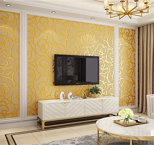 UNIQUE-F Tapete Vlies Deerskin 3D Romantic Rose Hochzeitszimmer Schlafzimmer Wohnzimmer TV Sofa Background -