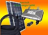 260Watt Photovoltaikanlage / Solaranlage für Eigenverbrauch Plug & Play Komplettset mit Montagematerial für ein Flachdach von bau-tech Solarenergie GmbH