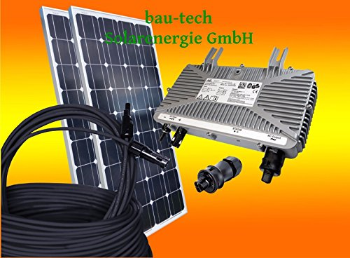 260Watt Photovoltaikanlage / Solaranlage für Eigenverbrauch Plug & Play Komplettset mit Montagematerial für ein Pfannendach / Ziegeldach von bau-tech Solarenergie GmbH