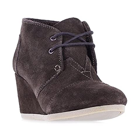 Toms Women's Desert Wedge Suede Chocolate Brown Ankle-High Suede Pump - 8.5M