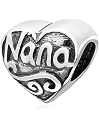 5b61959f27b4 Sandcastle Charm Abalorio de Plata de Ley 925 con Forma de corazón con  Forma de corazón