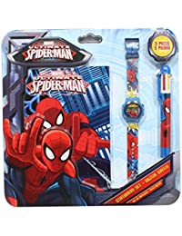 Reloj niño Spiderman Marvel Comics con bolígrafo y bloc Note