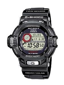 Reloj de caballero CASIO G-Shock GW-9200-1ER de cuarzo, correa de resina color negro (con radio, cronómetro, alarma, altímetro) de G-Shock