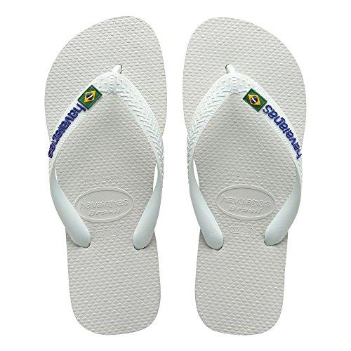 Havaianas–347134045. Brasil Logo, SANDALEN, Unisex White